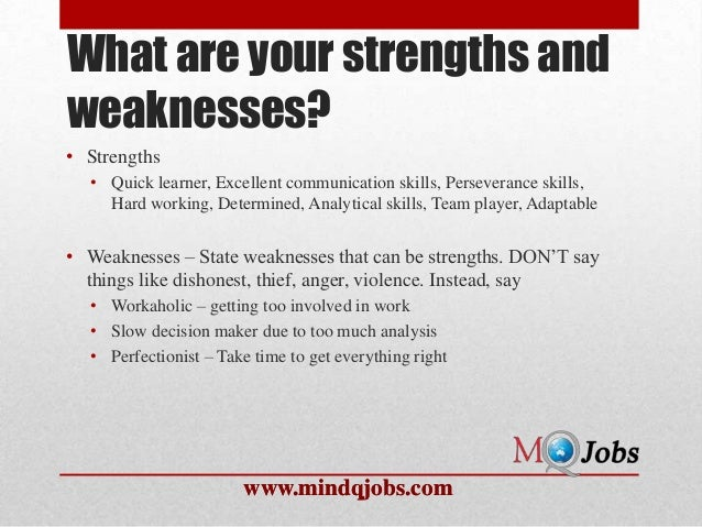 4 rules for answering the weakness question tips tricks job