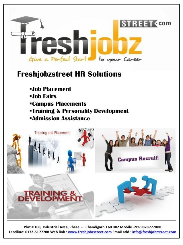 Freshjobzstreet HR Solutions Job Placement Job Fairs Campus Placements Training & Personality Development Admission A...