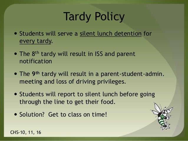 tardiness high school and tardy student essay Introduction of tardiness of the students when students are repeatedly tardy elementary and middle school levels are more likely to fail in high school.
