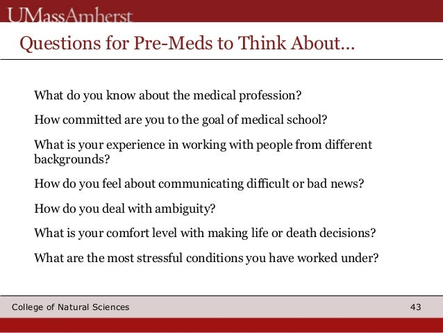 Question about Pre-Med?