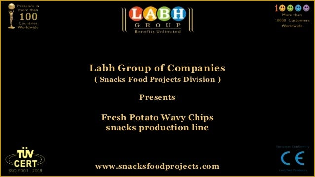 Fresh potato wavy chips snacks production line