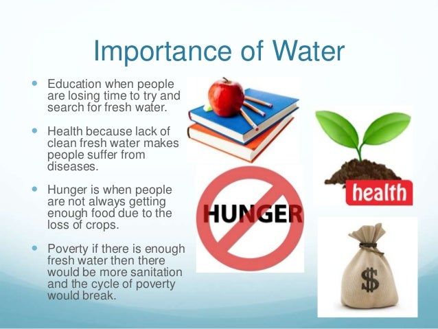 the importance of water to life