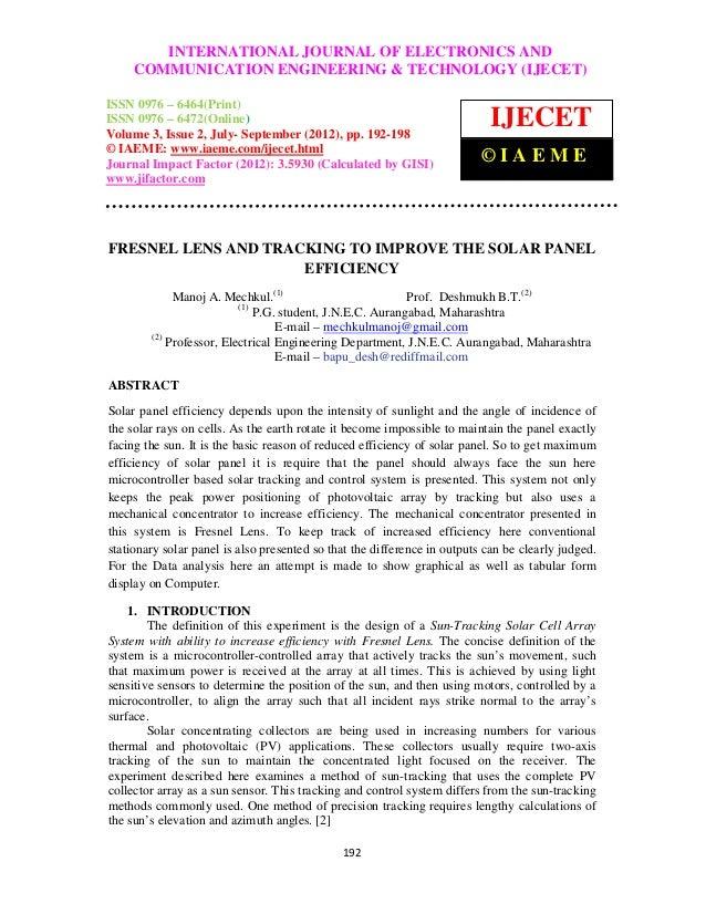 InternationalINTERNATIONAL JOURNAL OF ELECTRONICS (IJECET), ISSN              Journal of Electronics and Communication Eng...