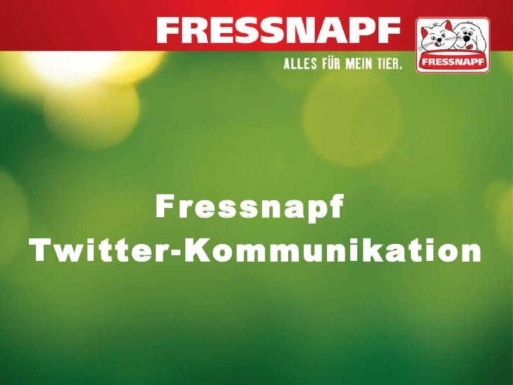 Fressnapf  Twitter-Kommunikation
