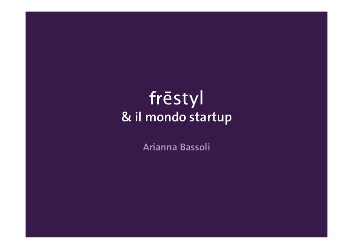 Frestyl   startup Weekend Trento 2012