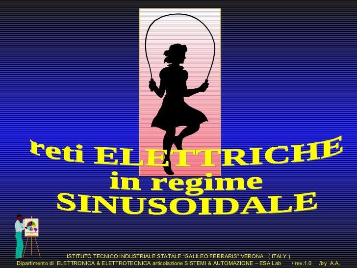 """ISTITUTO TECNICO INDUSTRIALE STATALE """"GALILEO FERRARIS"""" VERONA ( ITALY )Dipartimento di ELETTRONICA & ELETTROTECNICA artic..."""