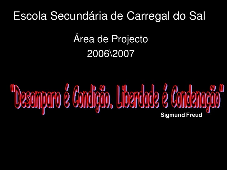 Escola Secundária de Carregal do Sal             Área de Projecto               20062007                                  ...