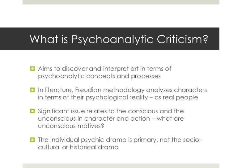 Psychoanalytic criticism essay help & Essay writing - Leeds University ...