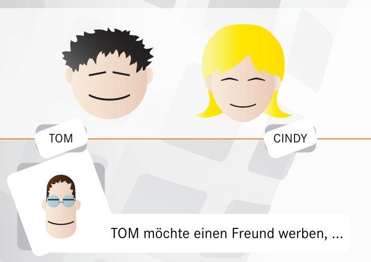 TOM                           CINDY           TOM möchte einen Freund werben, ...