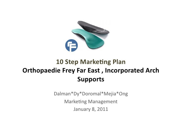 10 Step Marke,ng Plan  Orthopaedie Frey Far East , Incorporated Arch                        Suppor...