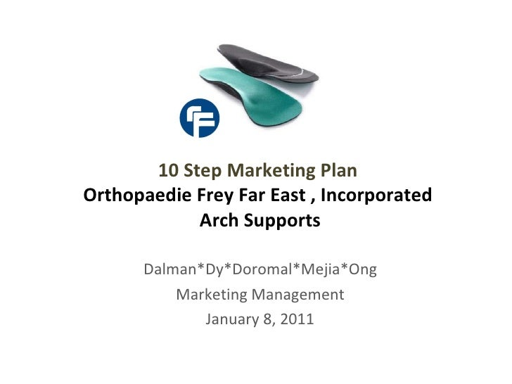 Dalman*Dy*Doromal*Mejia*Ong Marketing Management January 8, 2011 10 Step Marketing Plan  Orthopaedie Frey Far East , Incor...