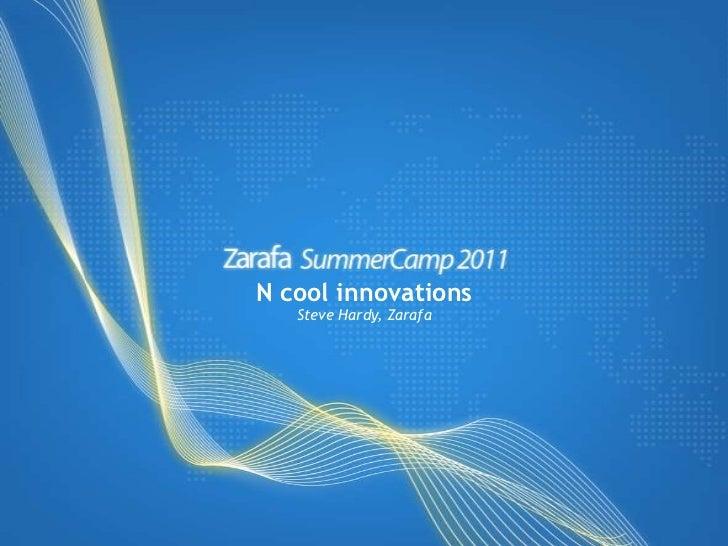 Five cool innovations in Zarafa