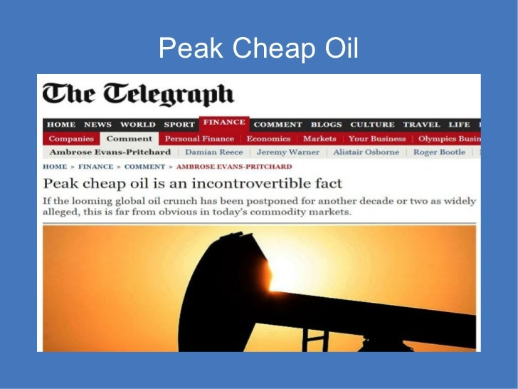 Peak Cheap Oil