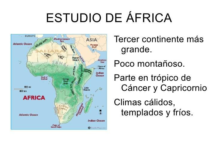 Estudio del continente africano - Continente y contenido ...
