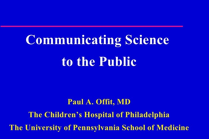 Friday 1.15 Pm   Paul Offit   Current Events In Immunizations
