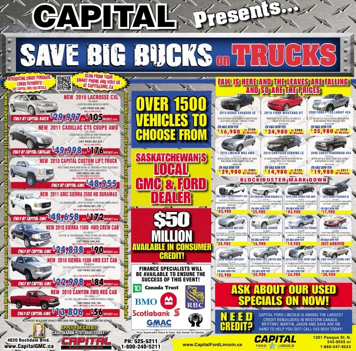 Capital Ford Lincoln Used Car Ad