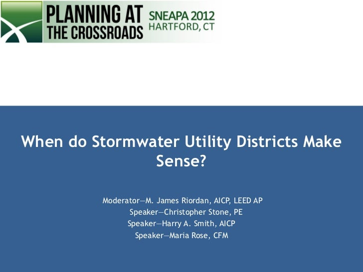 When Do Stormwater Ulitilities Make Sense?