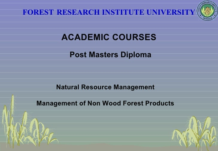 Forestry allied subjects college of chemistry