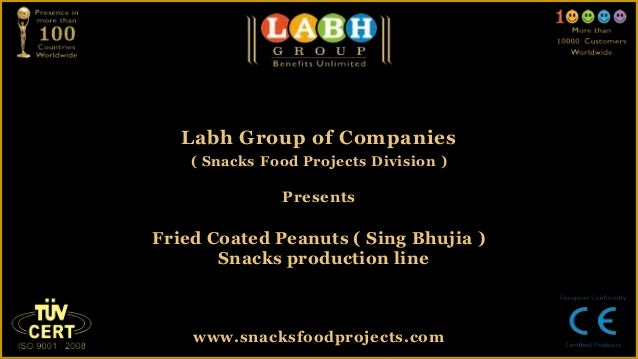 Fried coated peanuts ( sing bhujia )  snacks production line