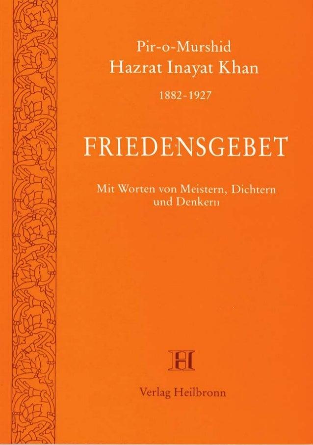 Friedensgebet von Hazrat Inayat Khan (Leseprobe)