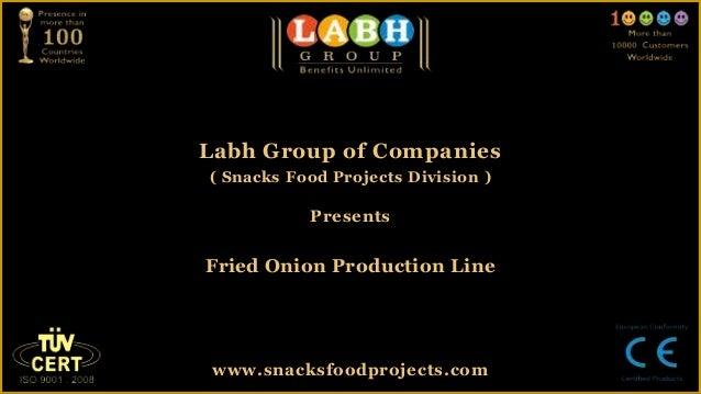 Fried onion production line