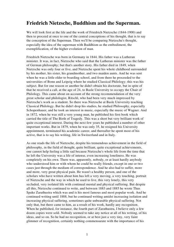 Friedrich Nietzsche  Buddhism And The Superman