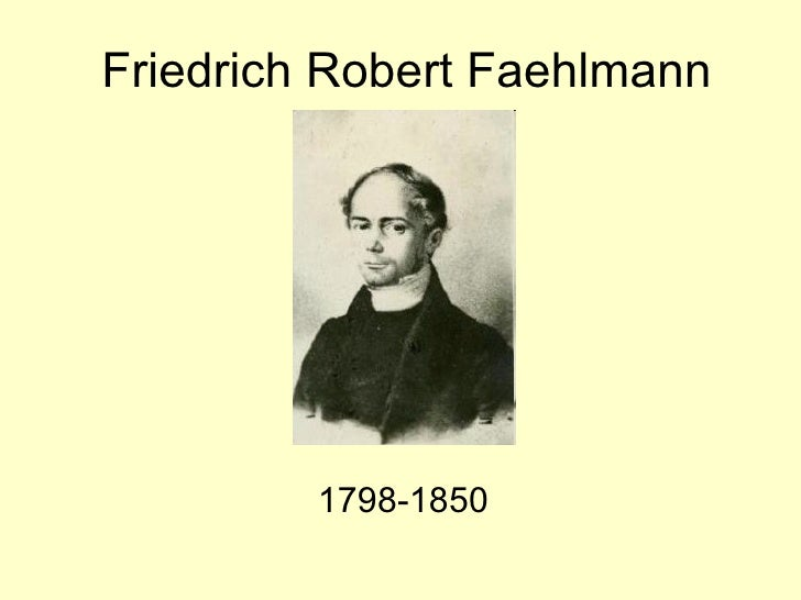 Friedrich Robert Faehlmann 1798 -1850