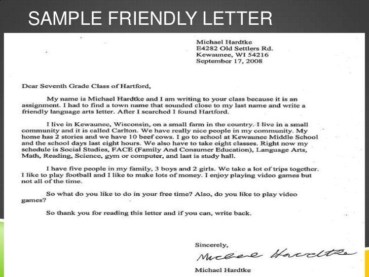 Friendly Letter Example x3cbx3efriendly letterx3c/bx3e