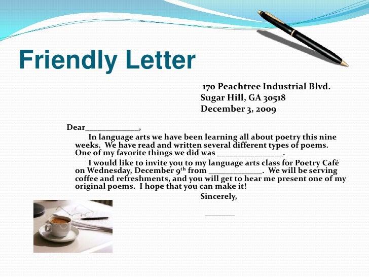 friendly letters friendly letter links friendly letter tutorial