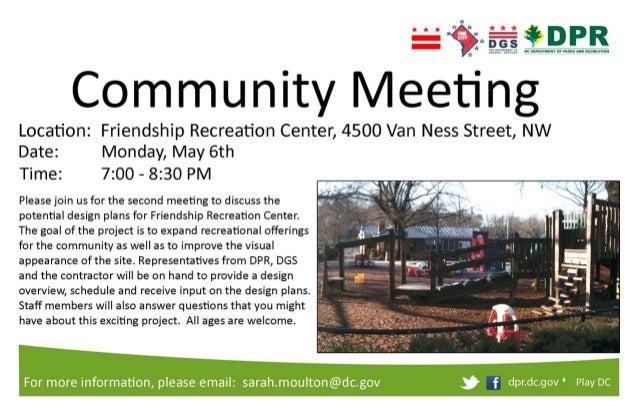 Friendship Community Meeting