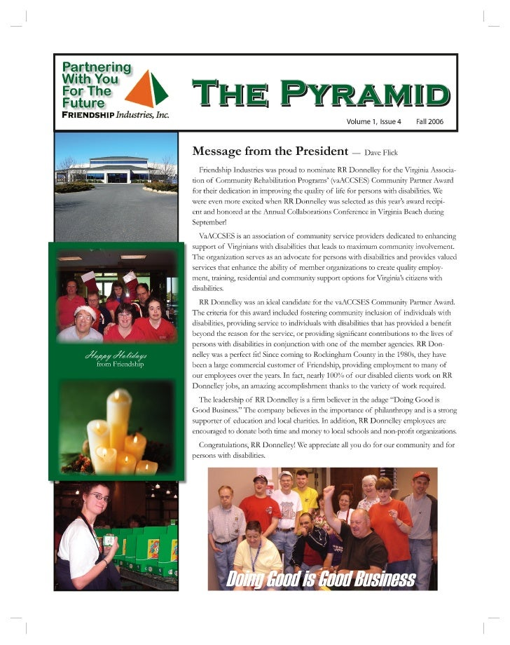 Friendship's The Pyramid Vol 1, Issue 4