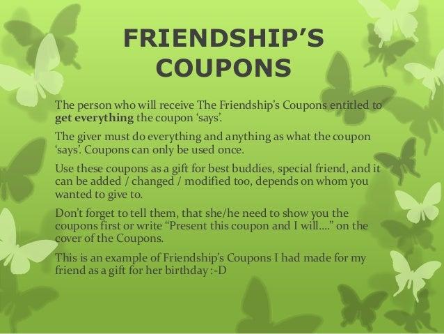 coupon gift ideas