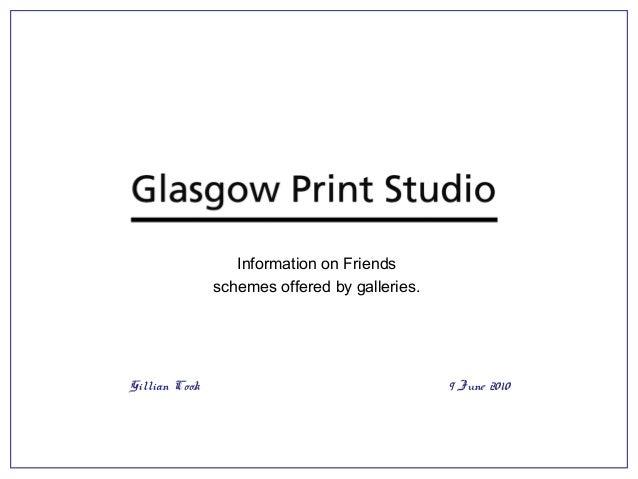 Survey of Gallery Friends Schemes