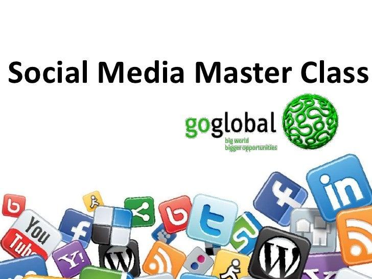 FMS2010 Go Global Masterclass - Social Media