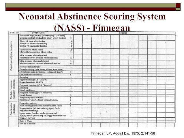 management of neonatal abstinence syndrome in Background: current standard therapy for moderate to severe neonatal  abstinence syndrome (nas) inc.
