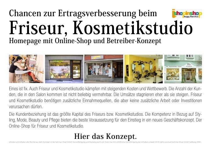 Chancen zur Ertragsverbesserung beim  Friseur, Kosmetikstudio Homepage mit Online-Shop und Betreiber-Konzept     Eines ist...
