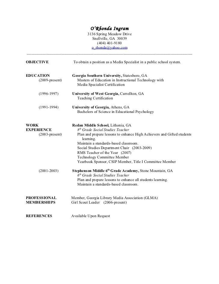 O'Rhonda Ingram                                3136 Spring Meadow Drive                                  Snellville, GA 30...