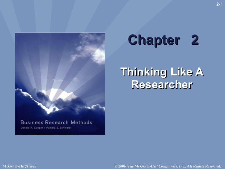 Chapter  2 Thinking Like A Researcher 2-