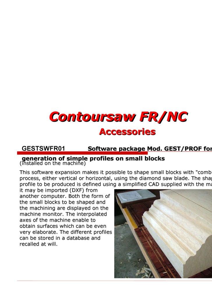 CONTOURSAW FR/NC - ACCESSORIES