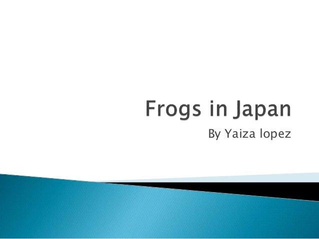 Frogs in japan