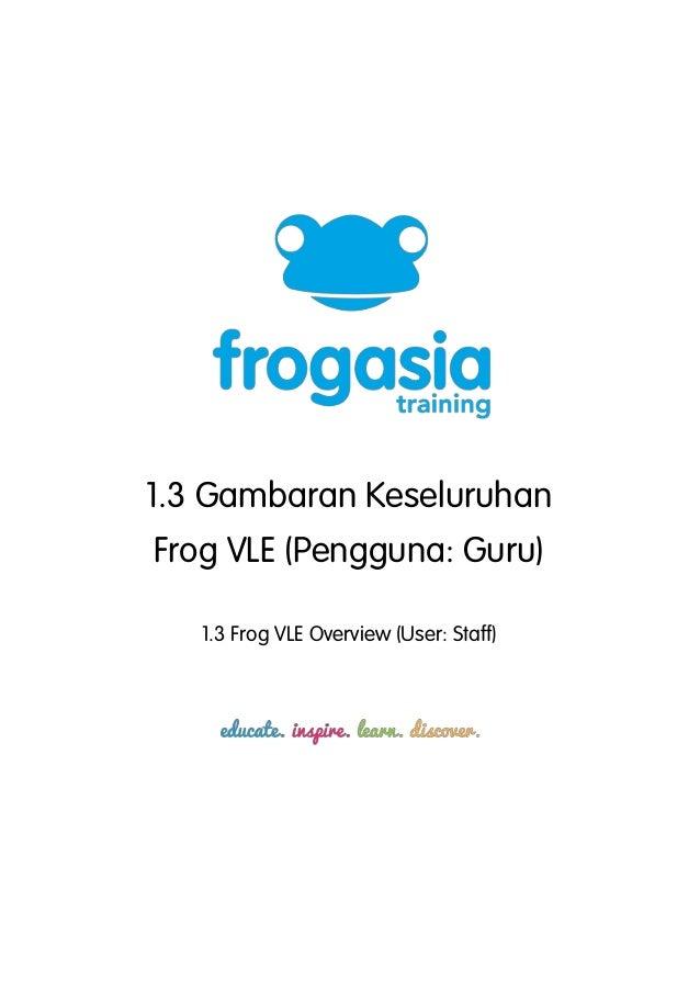 1.3 Gambaran KeseluruhanFrog VLE (Pengguna: Guru)   1.3 Frog VLE Overview (User: Staff)