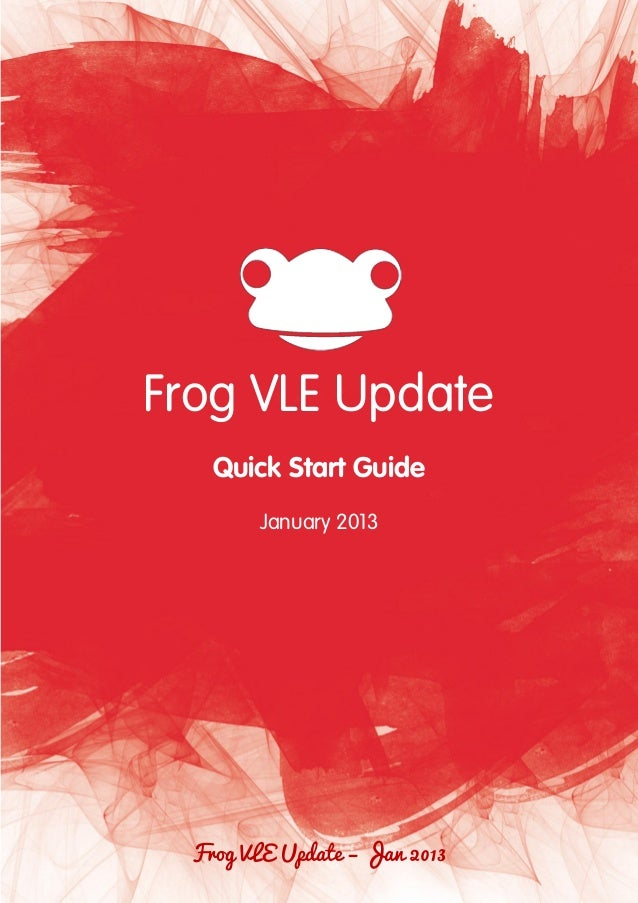 Frog vle update january 2013
