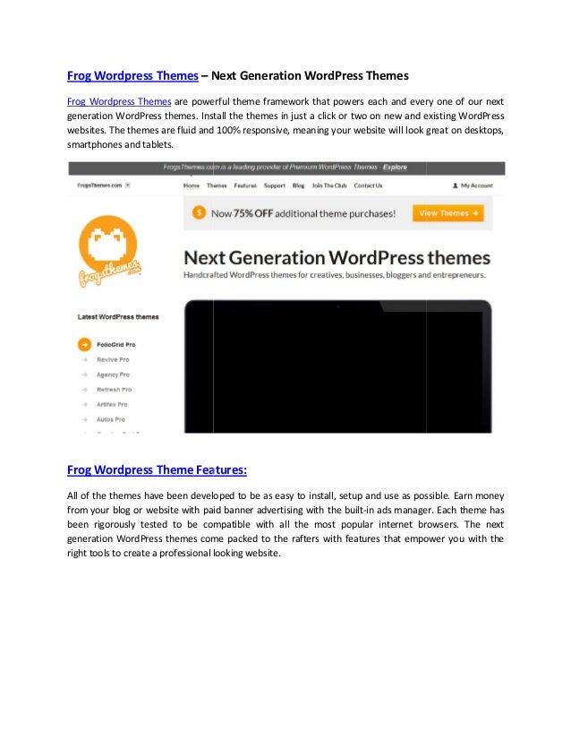 Frog wordpress themes