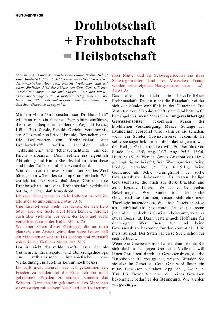 GuteBot[aft.$om                                     Drohbotschaft                                 + Frohbotschaft         ...