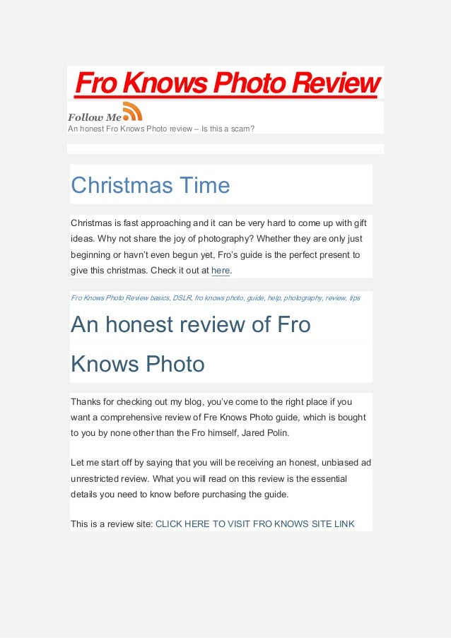Fro knows photo beginners guide review