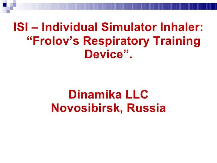 Frolov's device presentation