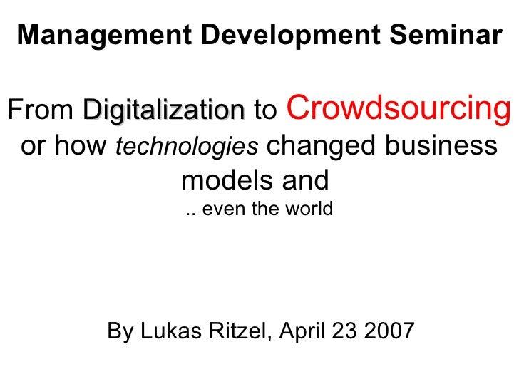 Crowdsourcing (..Web2.0)