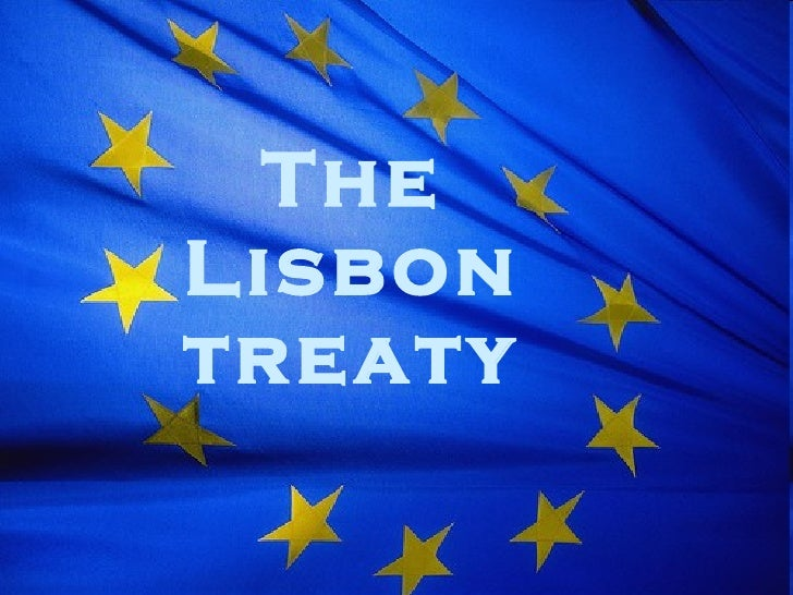 From Spain- Treaty of Lisbon