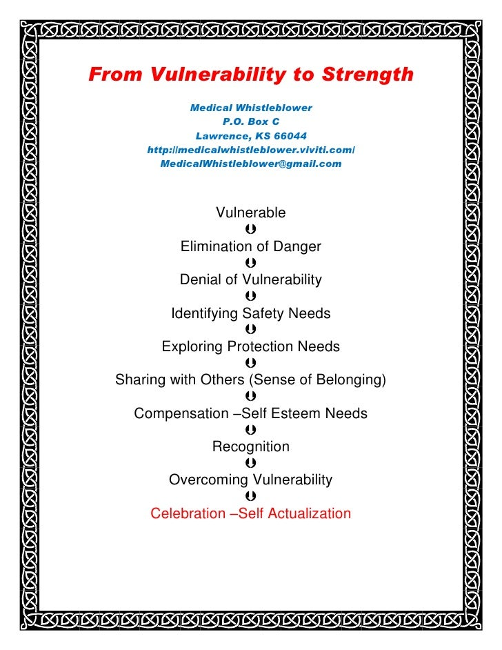 From  Vulnerability To  Strength