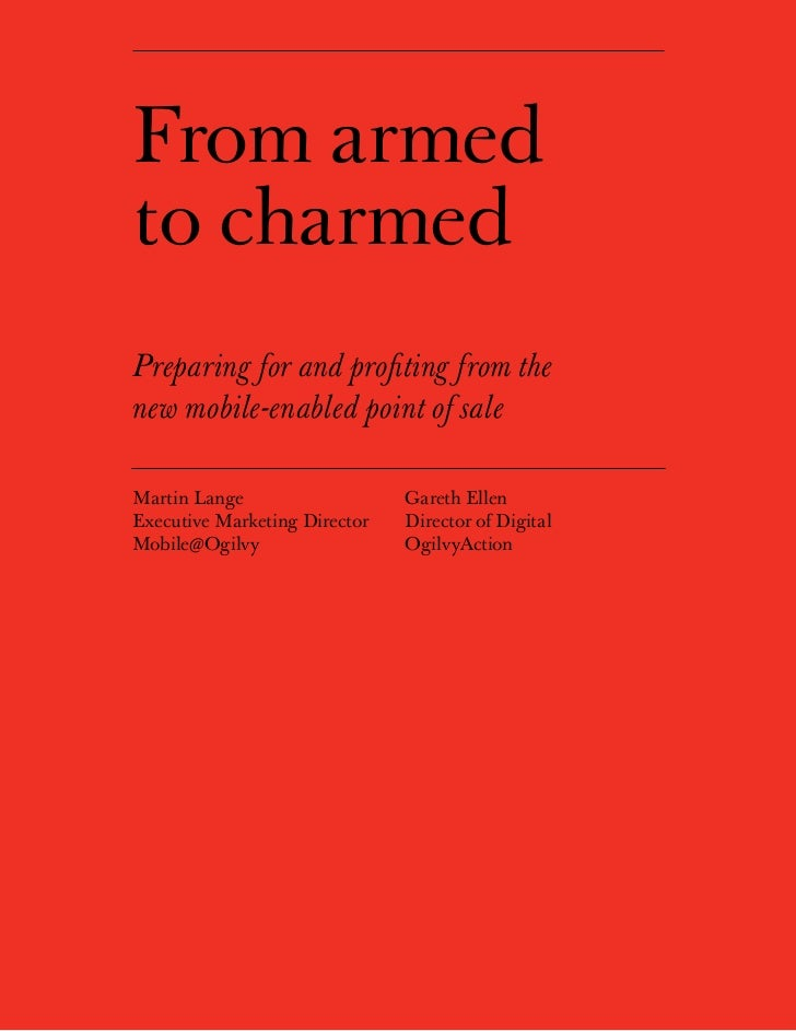 From armedto charmedPreparing for and profiting from thenew mobile-enabled point of saleMartin Lange                      ...